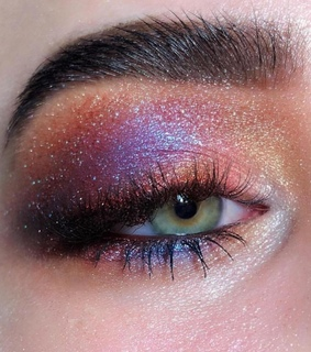 eye, pink and glitter