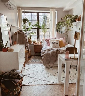 white, cosy and apartment