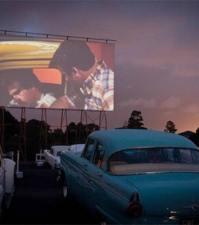 drive in, 90s and 50s
