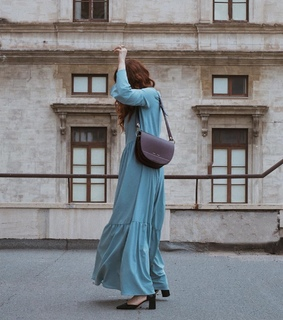 windows, blue dress and buildings