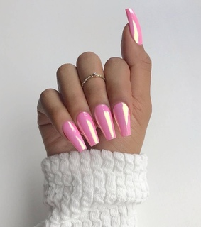 pink, beautiful and nails