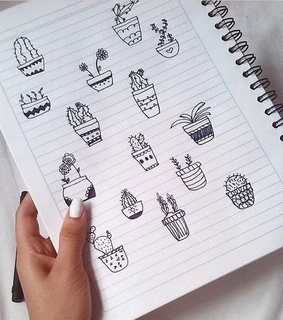pale, aesthetic and cactus