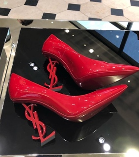 red heels, YSL and so cute