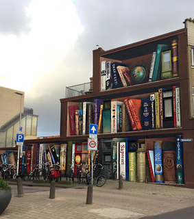 book, street and art