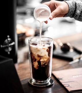 milk, coffee and ice coffee