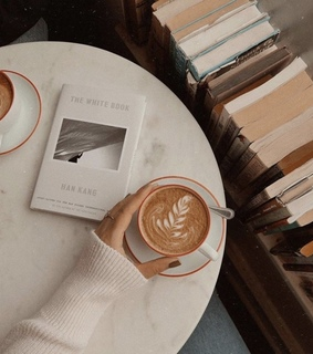 coffee, book and reading