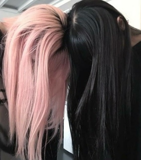pink, girl and black