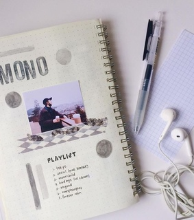journal, kpop and rm