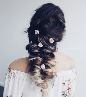 flowers, hairstyle and style