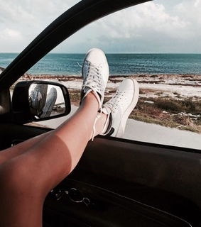shoes, cars and girl
