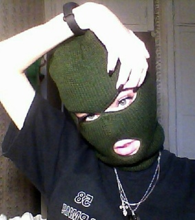 cute girls, ski mask and ghetto