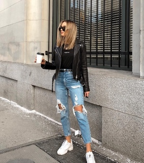 black, casual and fashion