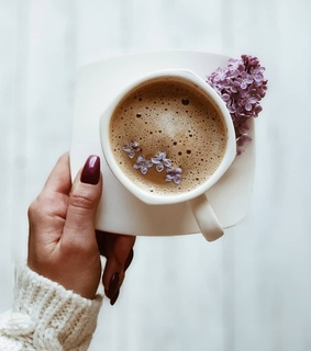 flowers, coffee and cup of coffee