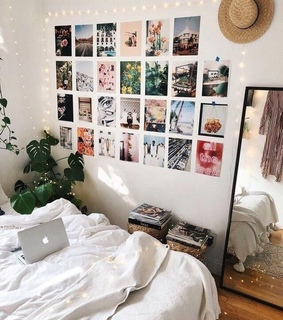 girl, bedroom and pictures