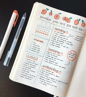 lettering, orange and jornal