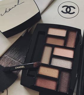 chanel, palette and brush