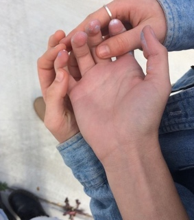 hands, couple and asian girl