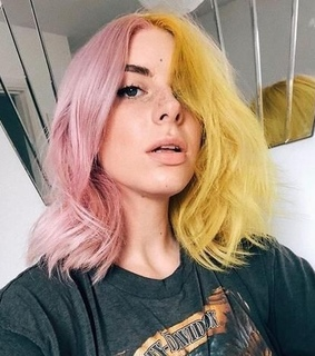 pink, yellow and short