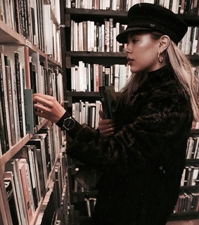 library, vintage and cute