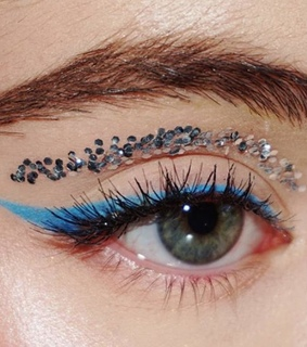 eye, brows and blue