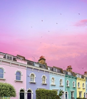 pastel, cute and rainbow houses