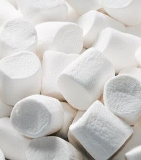 sweets, white and marshmallows