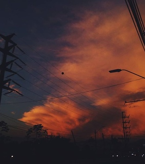 tumblr, sky and sunset