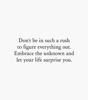surprise, rush and life
