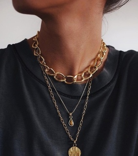 accessories, choker and gold