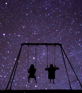 swings, positive and love