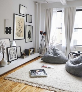 grey, pictures and carpet