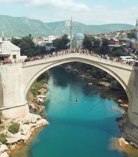 dreamy, mostar bridge and travel