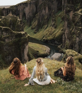 landscape, friends and valley