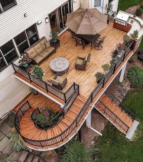 deck, home and balcony