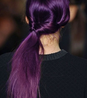 colour, purple and hair