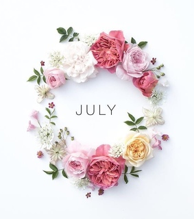 summer, flowers and july