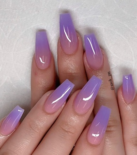 lavender, nails and ombre
