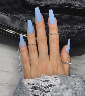matte, manicure and claws