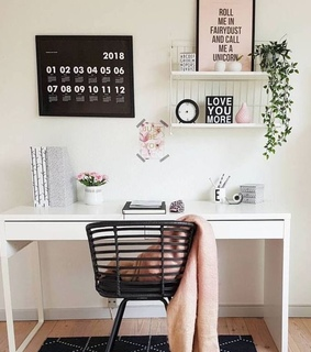 home interior, working space and home decor