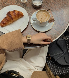 morning, coffee and fashion