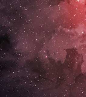 space, red and stars