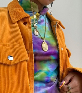 orange, necklace and aesthetic