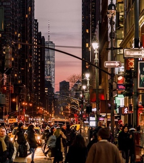 picture, new york and night