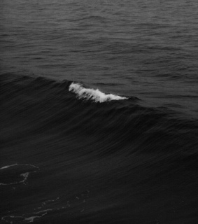 black, wave and sea