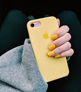 iphone, nails and yellow