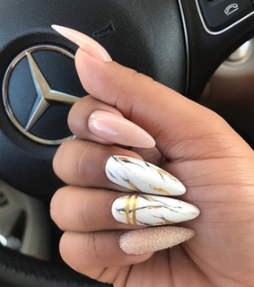 marble, dorado and nail ideas