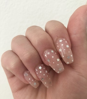 stars, aesthetic and gel