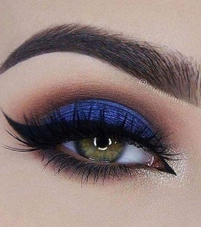make up, beauty and blue