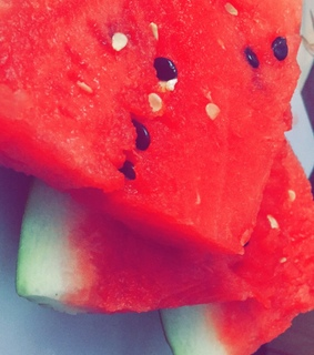 yum, food and watermelon