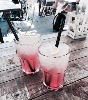 aesthetic, ice and beverages